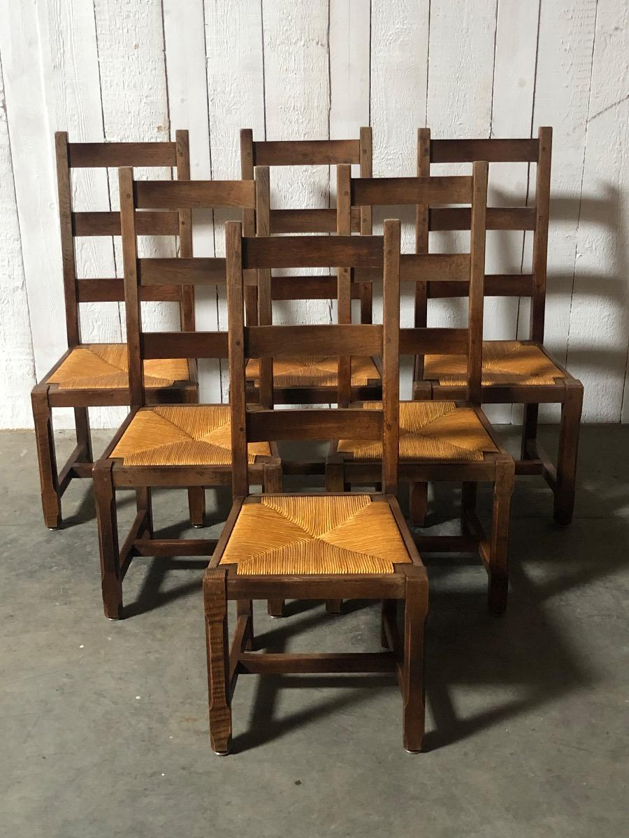 6 Farmhouse Dining Chairs In Oak Chairs Seating Antiques Furniture