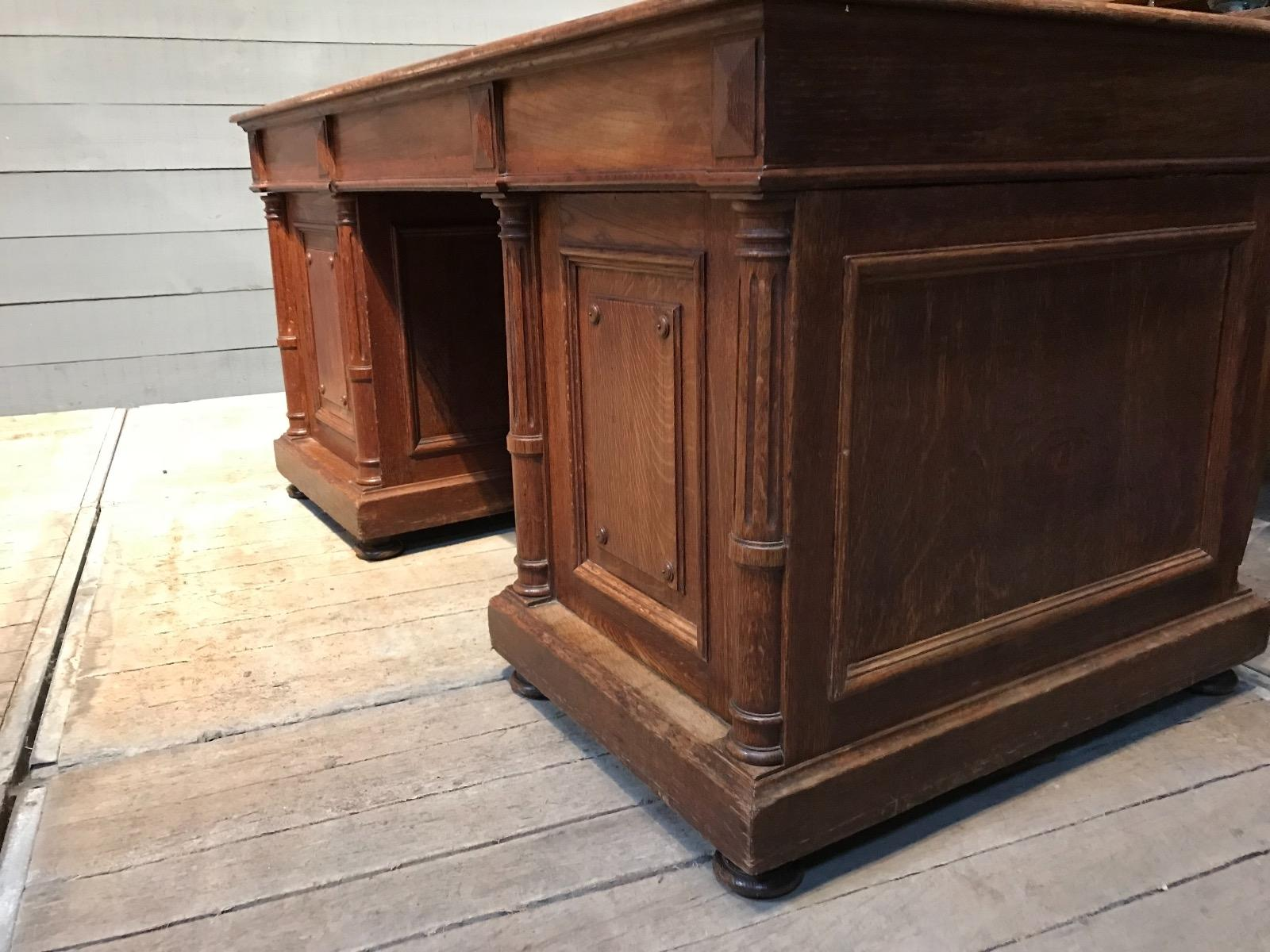 Antique Partners Desk Antique Mahogany Desk