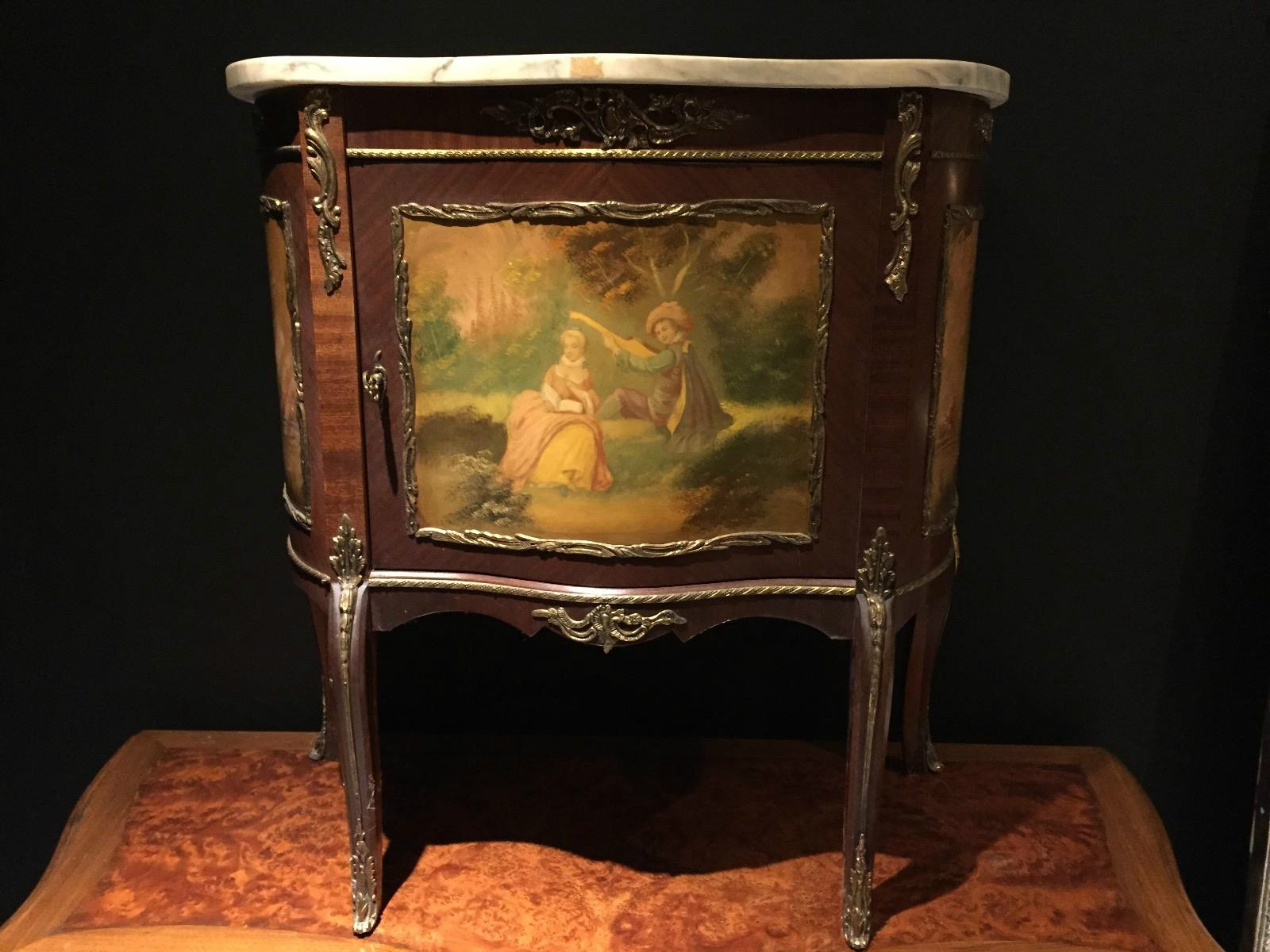 Antique Vernis Martin Small Marble Top Cabinet Antiques Furnitures Recent Added Items European Antiques Decorative