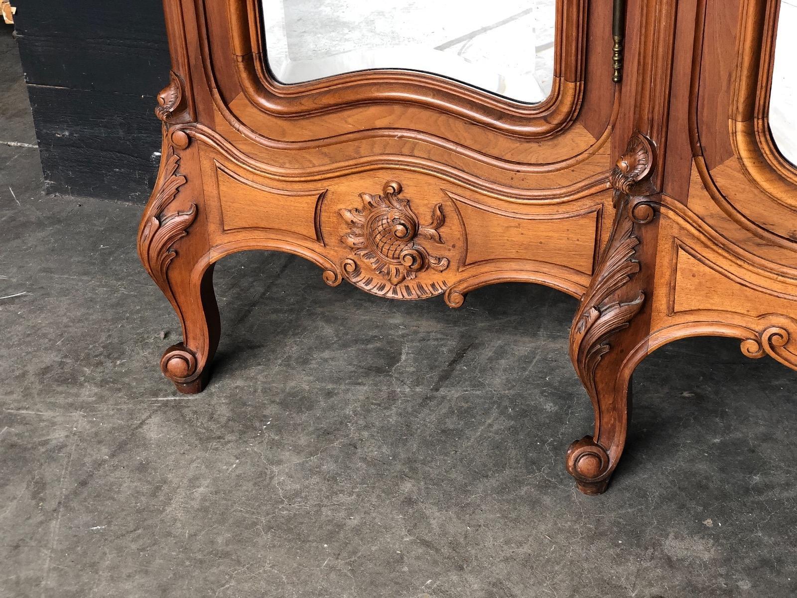 Antique walnut French Louis XV bedroom suite - BEDROOM ...