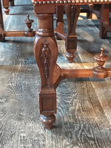 Exceptionnal Walnut Carved Renaissance dining room suite - DINING ...