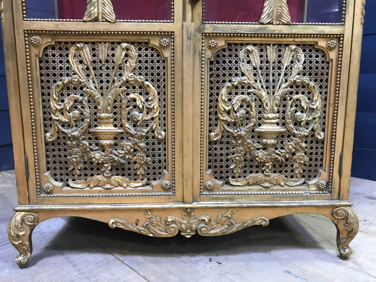French Gilt Louis XVI Display Cabinet   Display Cabinets   FURNITURE    Antiques U0026 Furniture