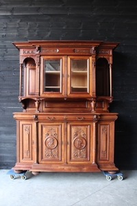 Henri II Walnut Renaissance french buffet