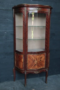 Louis 15 Marquetery & Bronze Display cabinet
