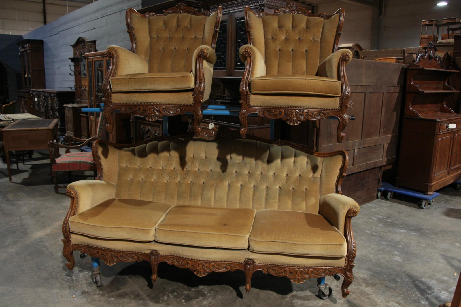 Antiques furnitures import export - Salon louis xv ...
