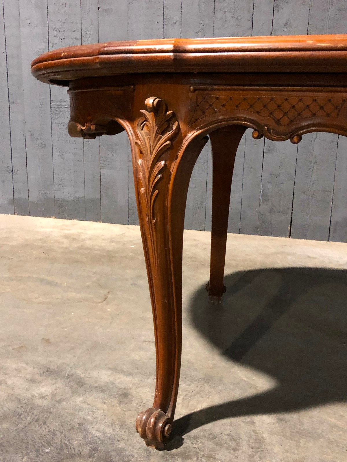 Louis Xvi Cherry Wood Dining Table Table Antiques Furniture