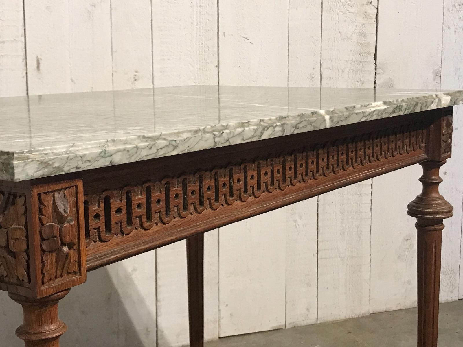 Louis Xvi Style Green Marble Top Table Table Antiques Furniture