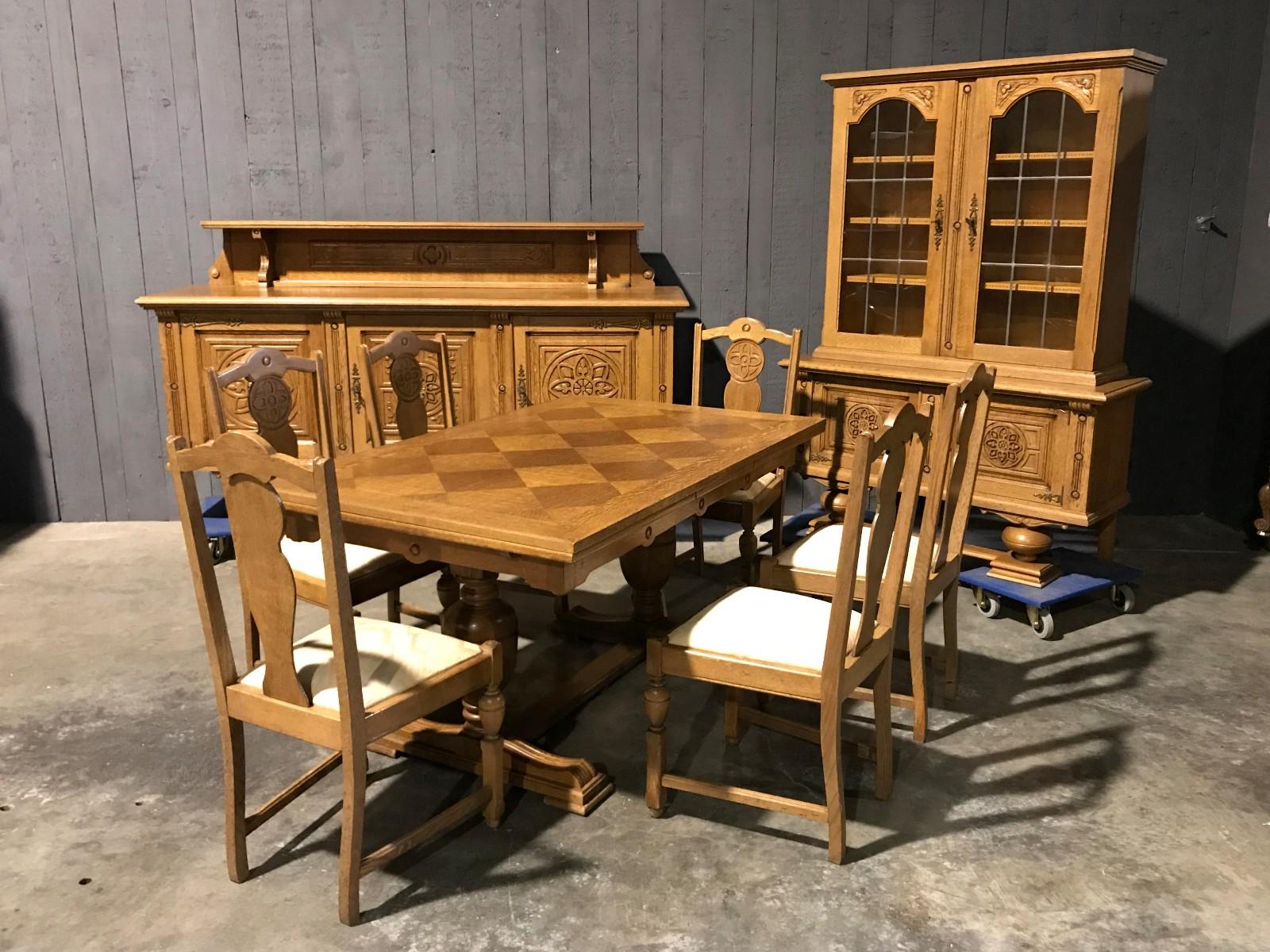 Oak Dining Room Suite Néorenaissance Suites