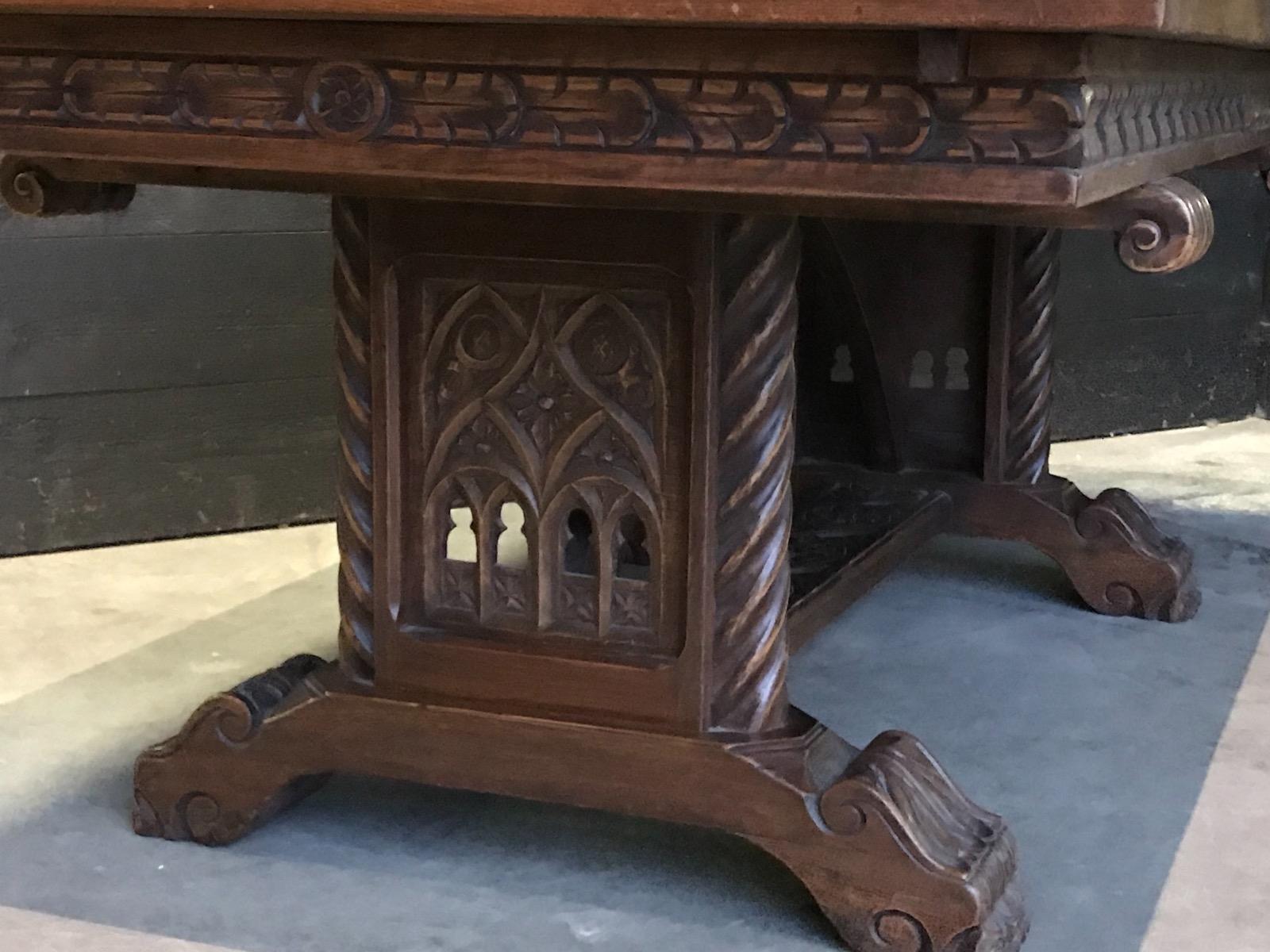Oak Gothic Dining Room - Gothic - Antiques & Furniture