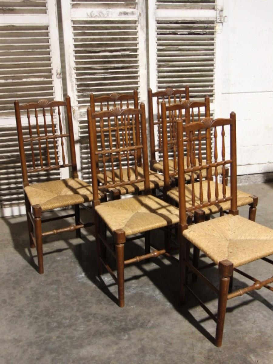 Set Of 6 Country Style Dining Chairs