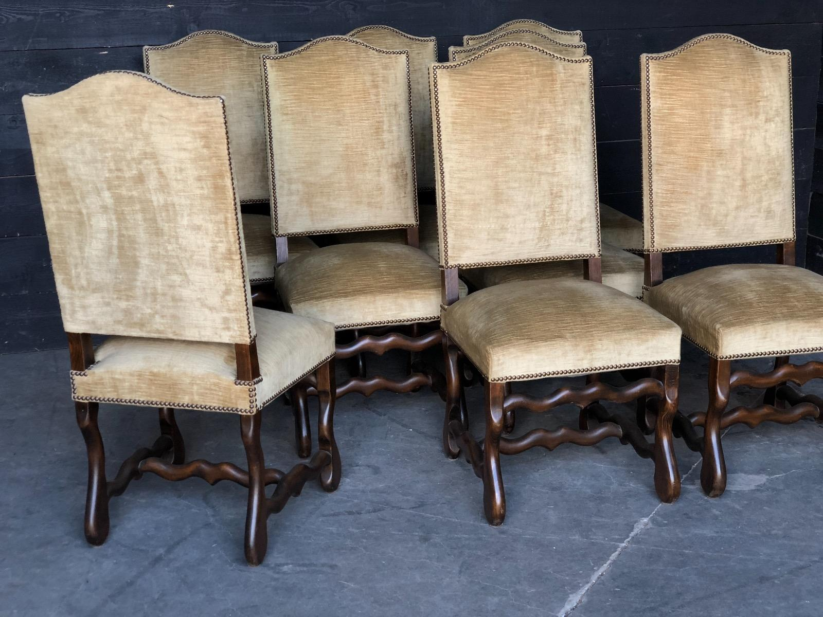 Set Of 8 Mutton Legs Dining Chairs Chairs Seating Antiques